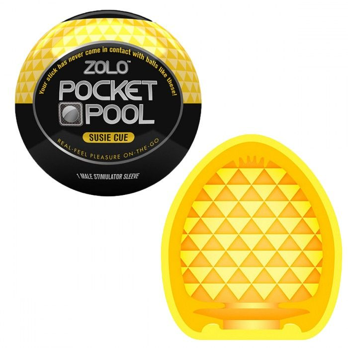 Карманный мастурбатор с уникальным рельефом Zolo Pocket Pool Susie Cue